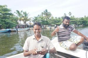 Náš průvodce Chalanga de Silva a náš kapitán